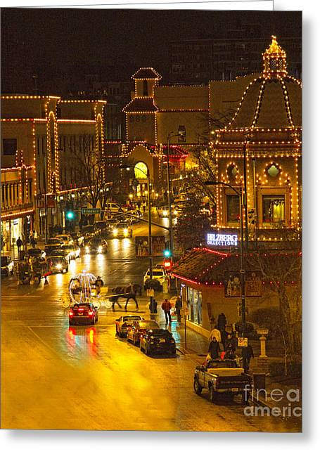 Recently Sold -  - Festivities Greeting Cards - The Streets of Kansas City Greeting Card by Carolyn Fox