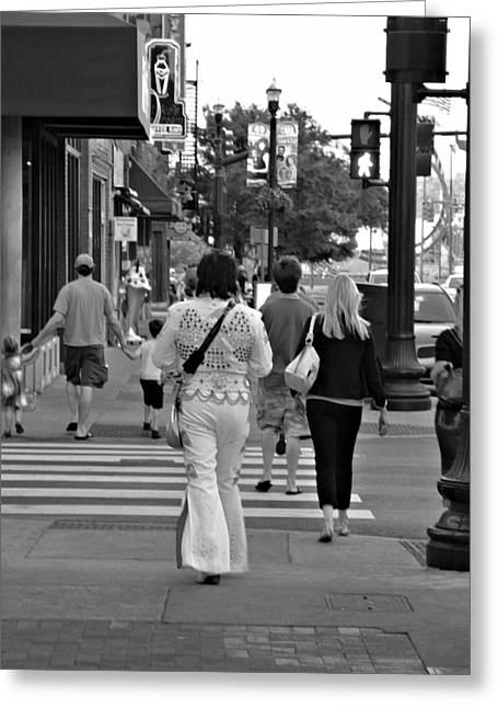 Nashville Tennessee Greeting Cards - The Streets of Nashville Greeting Card by Lance Vaughn