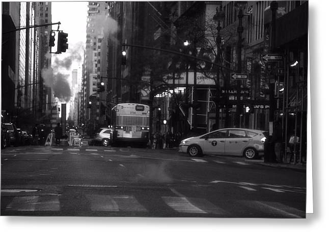 Stop Light Greeting Cards - The Streets Of New York City Greeting Card by Dan Sproul