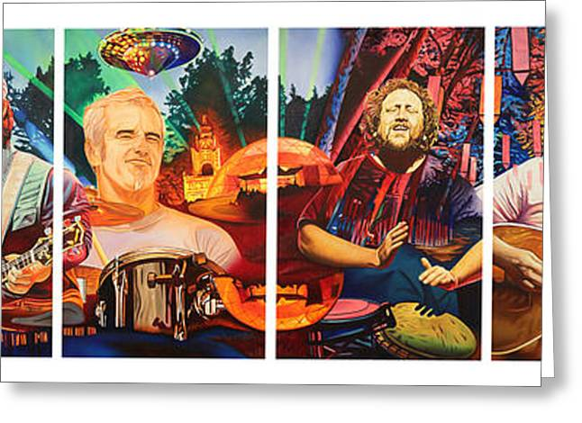Sha Greeting Cards - The String Cheese Incident at Hornings Hideout Greeting Card by Joshua Morton