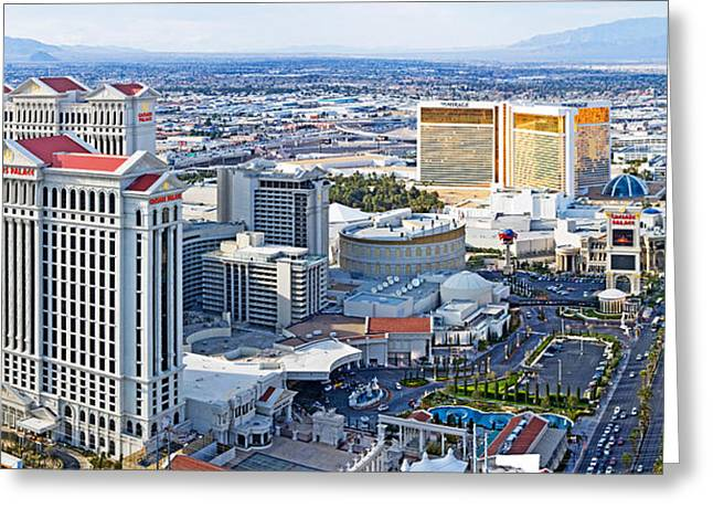 The Strip, Las Vegas, Clark County Greeting Card by Panoramic Images