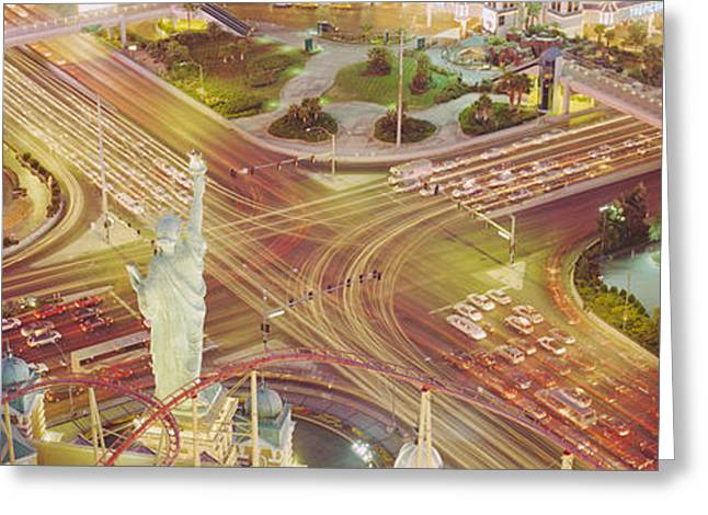 The Strip, Las Vegas, Nevada, Usa Greeting Card by Panoramic Images