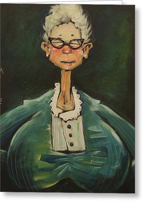 Gray Hair Mixed Media Greeting Cards - The Substitute Greeting Card by Tim Nyberg