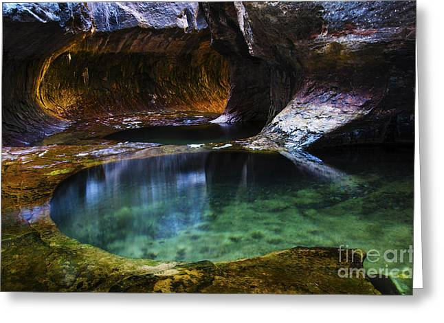 Hike The Subway Greeting Cards - The Subway Natures Best 1 Greeting Card by Bob Christopher