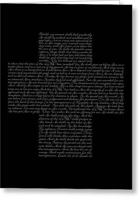 Book Of Isaiah Greeting Cards - The Suffering Servant Greeting Card by Linde Townsend