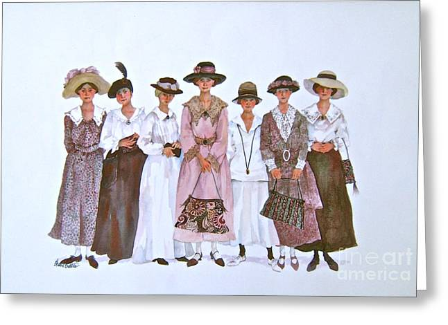 Voters Greeting Cards - The Suffragettes Greeting Card by Sherri Crabtree