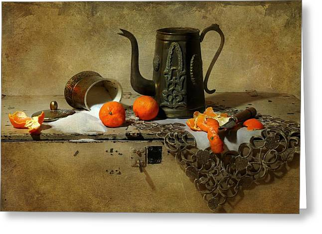Still Life With Pitcher Greeting Cards - The Sugar Bowl Greeting Card by Diana Angstadt