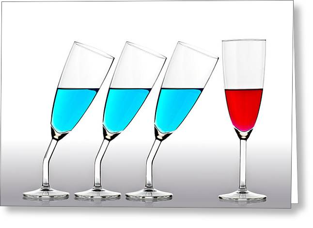 Champagne Glasses Greeting Cards - The Suitors Greeting Card by Gert Lavsen