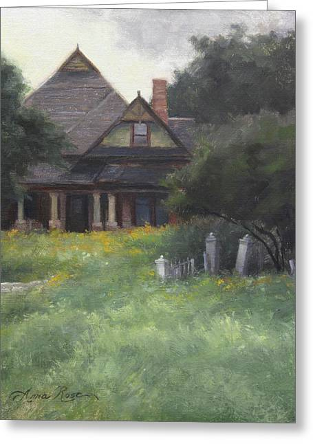 Old Houses Greeting Cards - The Sullivan House Greeting Card by Anna Rose Bain