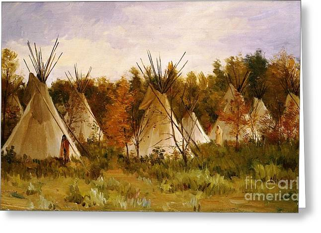 Summer Camps Greeting Cards - The Summer Camp Greeting Card by Pg Reproductions