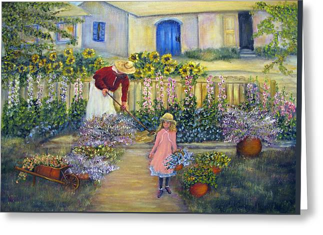 The Summer Garden Greeting Card by Loretta Luglio