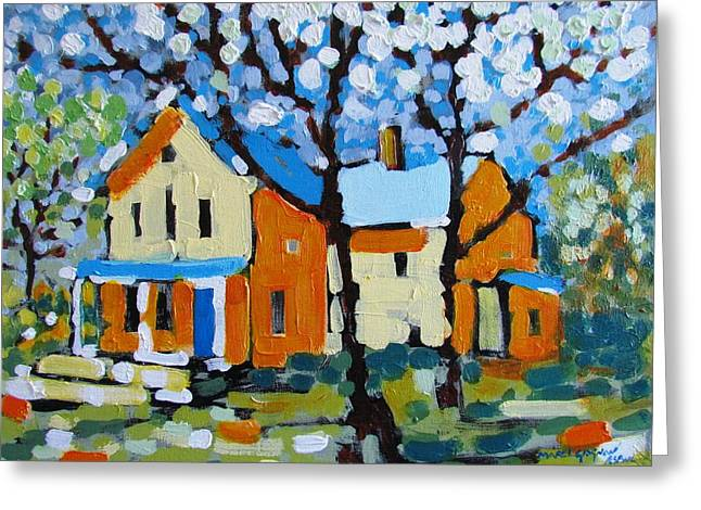 Canadian Heritage Paintings Greeting Cards - The Summer House Greeting Card by Marc L Gagnon