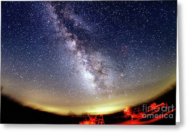 Mccoy Greeting Cards - The Summer Milky Way Greeting Card by Chris Cook