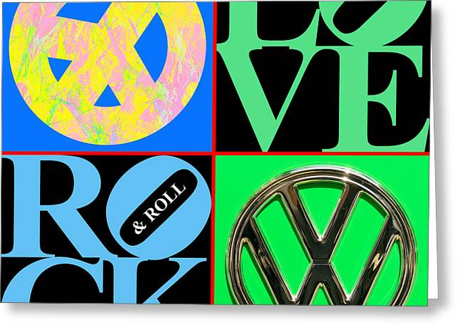 Hippie Volkswagon Greeting Cards - The Summer of Love 20140605 Greeting Card by Wingsdomain Art and Photography