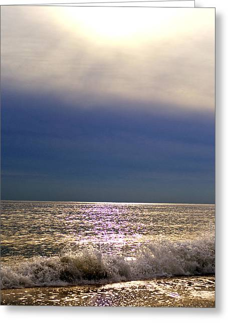 York Beach Greeting Cards - The Sun and the Sea Greeting Card by Vicki Jauron