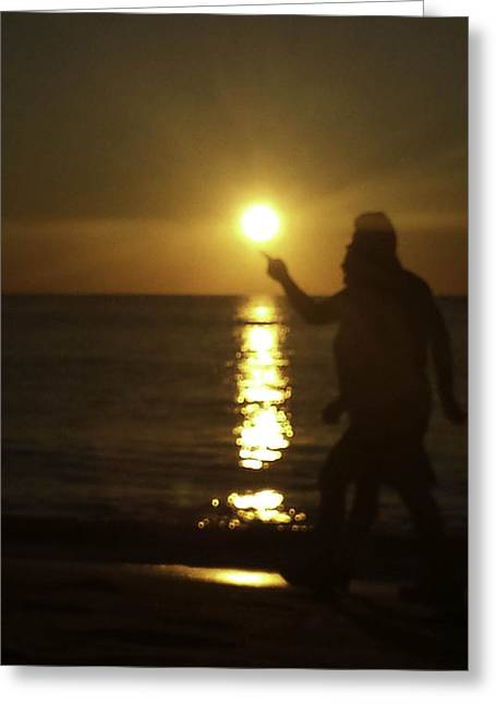 Para Surfing Greeting Cards - Touching the Sun Greeting Card by Debra Bowers