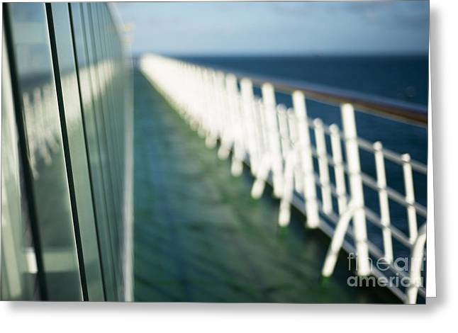 Boat Cruise Greeting Cards - The Sun Deck Greeting Card by Anne Gilbert