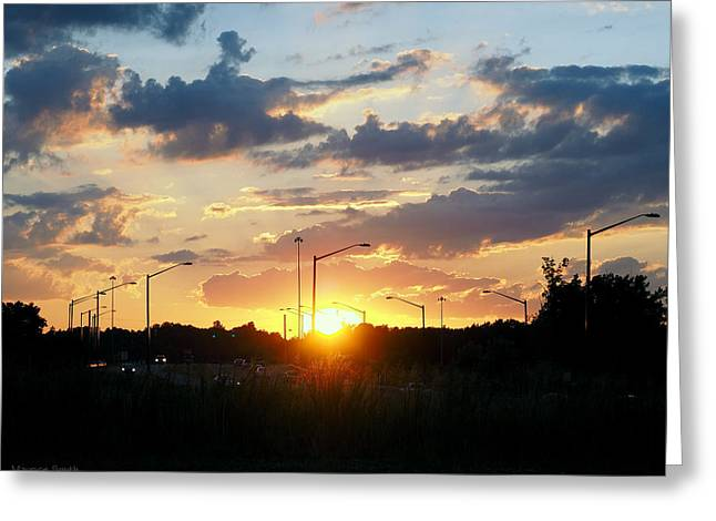 The Sun Goes Down Greeting Card by Maurice Smith