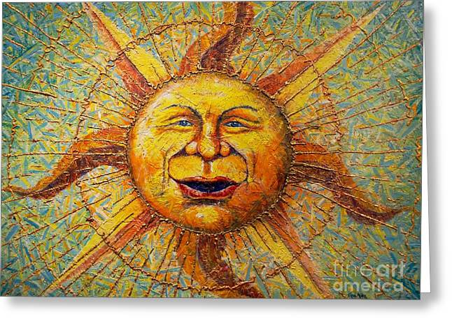 The Sun King Greeting Card by Gail Allen