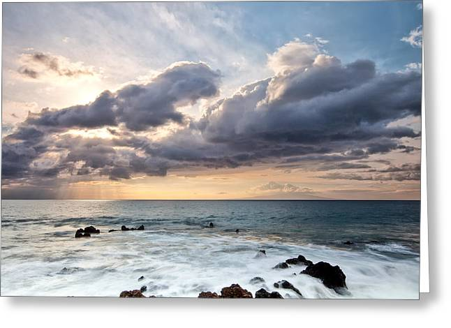Art In Acrylic Greeting Cards - The Sun Looking Down Greeting Card by Jon Glaser