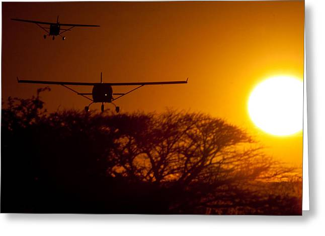 Fixed-wing Greeting Cards - The Sun Greeting Card by Paul Job