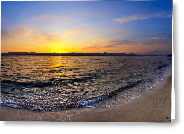 Sinai Photographs Greeting Cards - The Sun Rises over the Red Sea in Egypt Greeting Card by Mark Tisdale