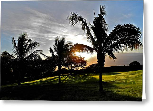 Kirsten Giving Greeting Cards - The Sun Rising Behind Haleakala Greeting Card by Kirsten Giving