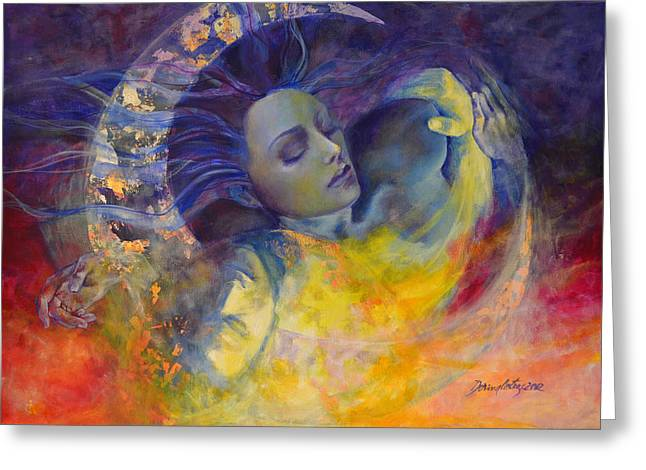Truth Greeting Cards - The sun the moon and the truth Greeting Card by Dorina  Costras
