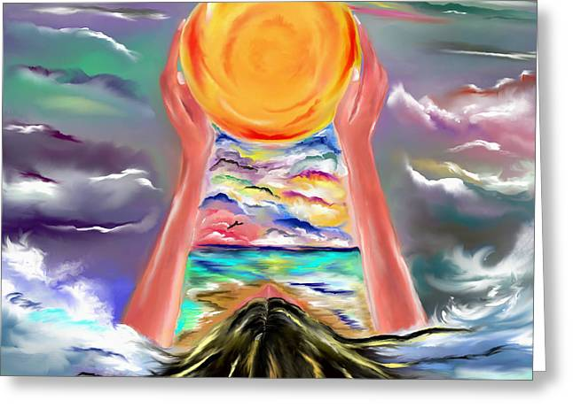 The Sun Will Shine Again Greeting Card by Lori  Lovetere
