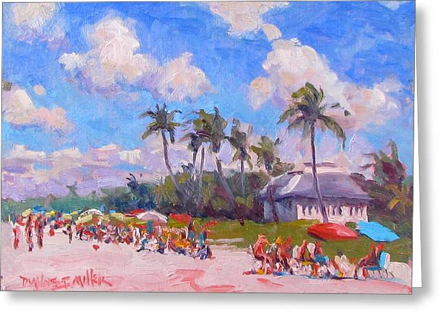 Dianne Panarelli Miller Greeting Cards - The Sunbathers Greeting Card by Dianne Panarelli Miller