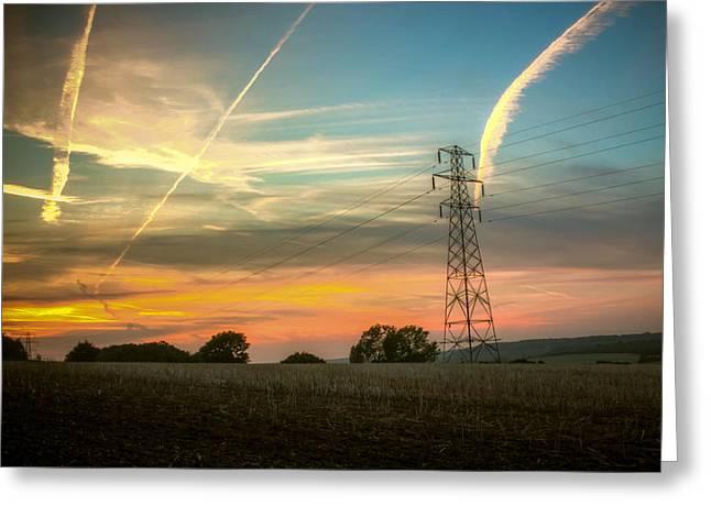 Sundown Greeting Cards - The Sundowner Greeting Card by Ian Hufton