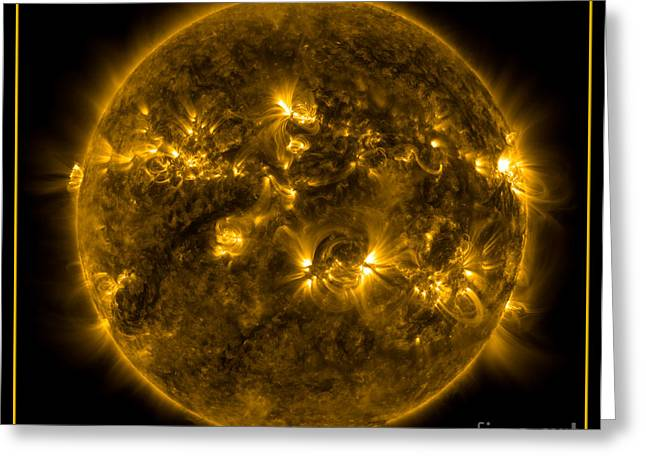 The Sun God Greeting Cards - The Suns Corona NASA Greeting Card by Rose Santuci-Sofranko