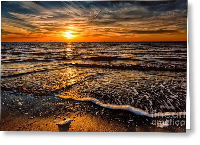 The Sunset Greeting Card by Adrian Evans