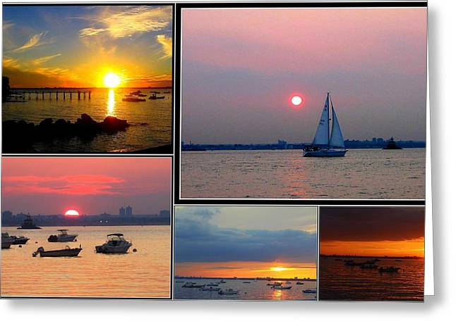 The Sunsets Of Long Island Greeting Card by Dora Sofia Caputo Photographic Art and Design