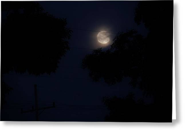 Exposure Greeting Cards - The Super Moon Cometh Greeting Card by Edward Shaffer