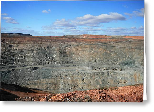 Mining Photos Greeting Cards - The Super Pit Greeting Card by Carl Koenig
