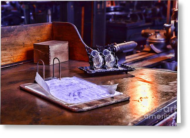 Clerk Greeting Cards - The Supervisors Desk Greeting Card by Paul Ward