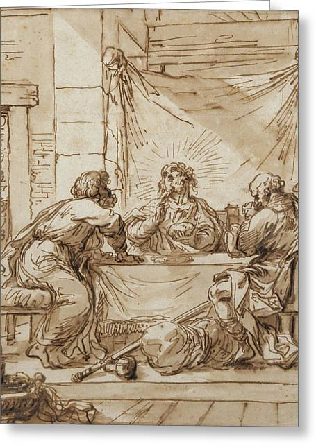 The Supper At Emmaus  Greeting Card by Guercino