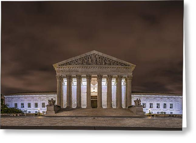 America Greeting Cards - The Supreme Court in Color Greeting Card by David Morefield