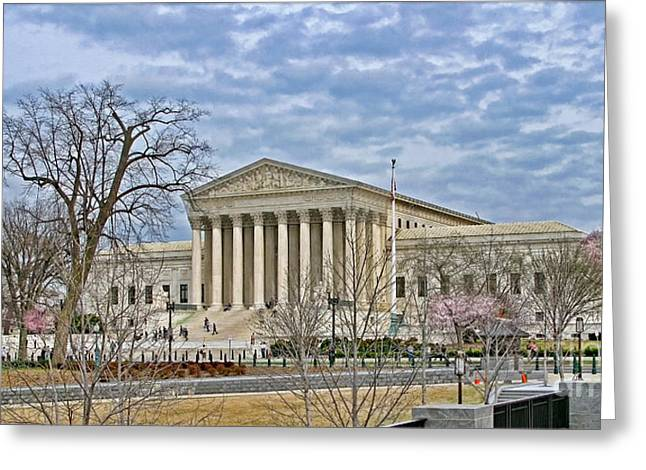 Supremes Greeting Cards - The Supreme Court Greeting Card by Jack Schultz