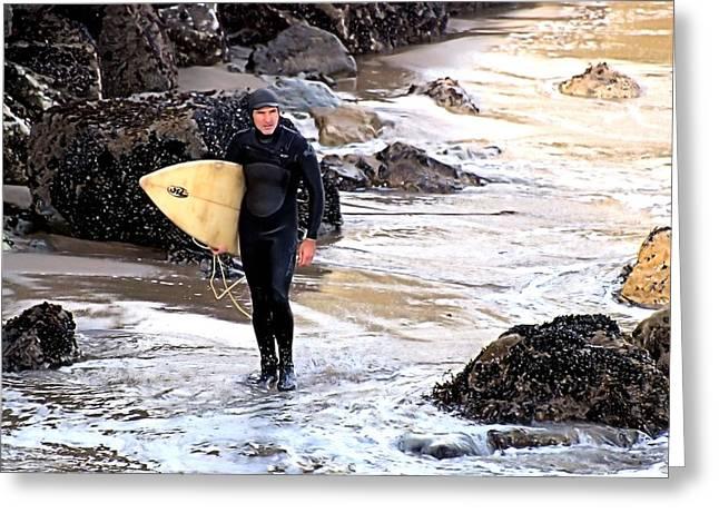 Santa Cruz Surfing Greeting Cards - The Surfers Eye Greeting Card by Bob Wall