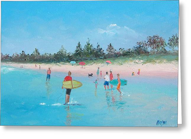 Seashore Greeting Cards - The Surfers Greeting Card by Jan Matson
