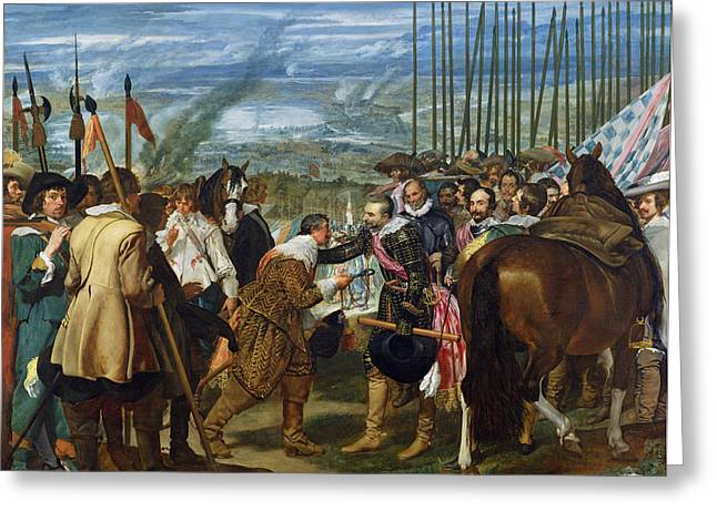 Grb Greeting Cards - The Surrender Of Breda, 1625, C.1635 Oil On Canvas See Also 68345 Greeting Card by Diego Rodriguez de Silva y Velazquez