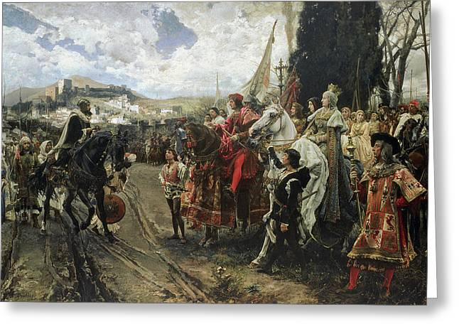 Granada Greeting Cards - The Surrender of Granada Greeting Card by Francisco Pradilla y Ortiz