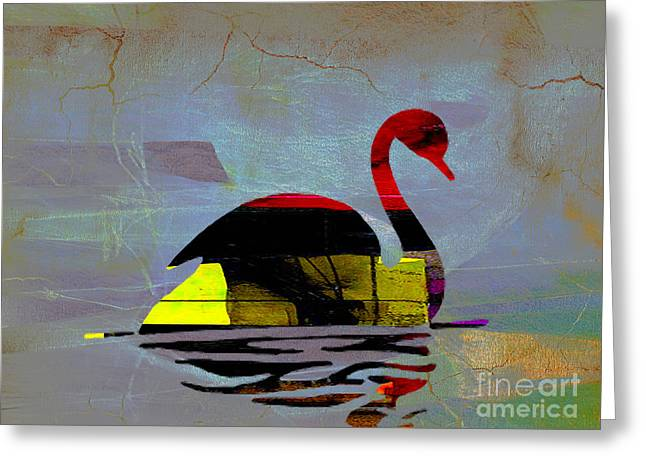Swan Goddess Print Greeting Cards - The Swan Greeting Card by Marvin Blaine