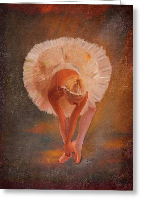 The Swan Warming Up Greeting Card by Angela A Stanton