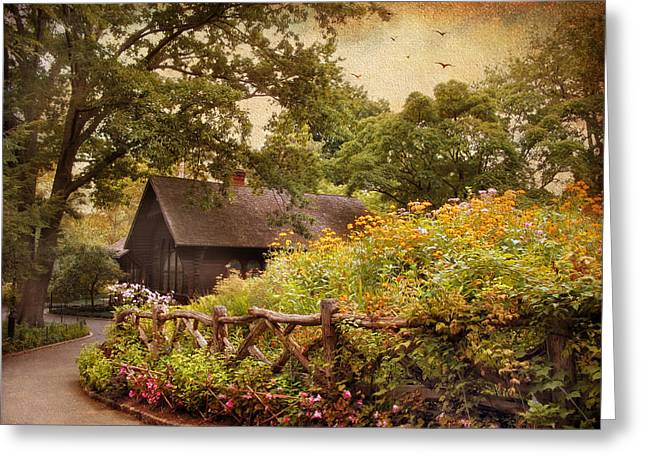 Charming Cottage Greeting Cards - The Swedish Cottage Greeting Card by Jessica Jenney