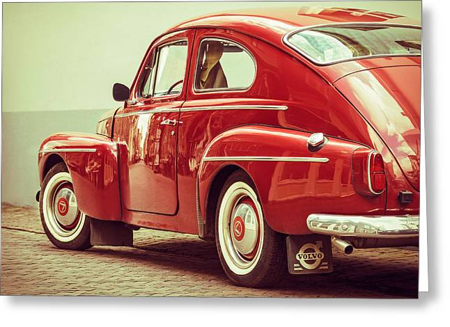 Fastback Greeting Cards - The Swedish Volvo Fastback Greeting Card by Martin Bergsma