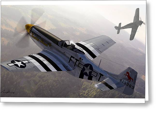 North American Aviation Greeting Cards - The Sweede Steed Greeting Card by Hangar B Productions