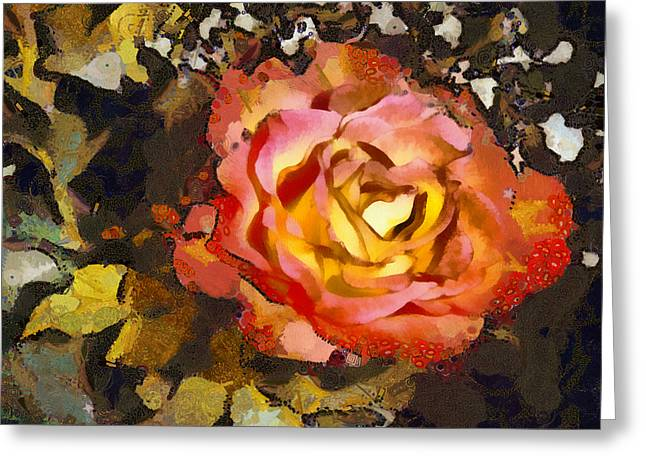 Angelinavick Greeting Cards - The Sweetest Rose 1 Greeting Card by Angelina Vick